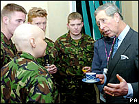 Prince Charles visits wounded soldiers