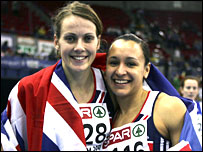 British heptathletes Kelly Sotherton and Jessica Ennis