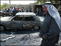 Aftermath of Iraq car bomb attack - file photo
