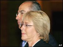 Michelle Bachelet y Felipe Calderón