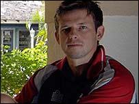 Ed Joyce at the England team hotel