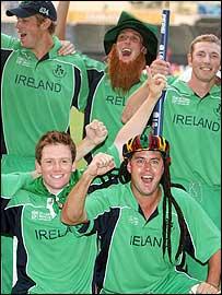 Ireland celebrate victory over Pakistan