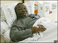 Zimbabwe opposition leader Morgan Tsvangirai in hospital