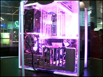 Neon-lit modded PC