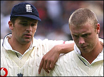 Steve Harmison and Andrew Flintoff