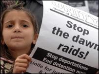 Dawn raid protest
