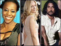 Marianne Jean-Baptiste in Without Trace, Joely Richardson in Nip/Tuck and Naveen Andrews in Lost