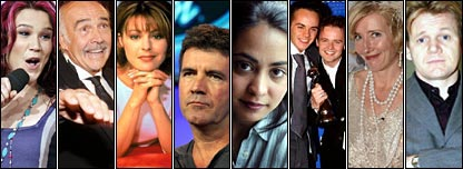 Success over there: Joss Stone, Sean Connery, Jane Leeves in Frasier, Simon Cowell, Parminder Nagra in ER, Ant and Dec, Emma Thompson and Gordon Ramsay