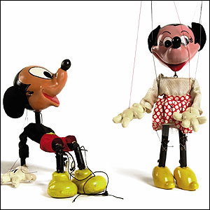 Pelham Puppets Mickey and Minnie Mouse, part of lot, 1960s Estimate:  �200-300  (Christie's Images)