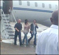 Jennifer Lopez arrives in the Maldives