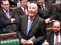 Sir Menzies Campbell speaking at Prime Minister's question time on 21 March, 2007