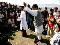 Afghans dancing
