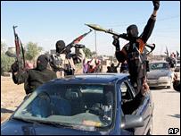 Iraqi militants in Baquba