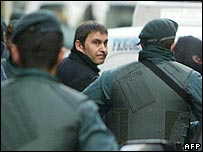 Basque separatist leader Arnaldo Otegi is arrested in northern Spain