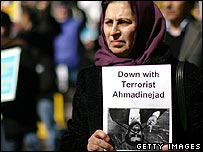 Iranian dissidents protesting at the UN