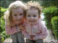 Jessica, 4, and Emily aged 2