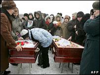 Funerals in Novokuznetsk