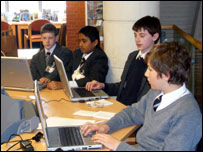 Reading School news team