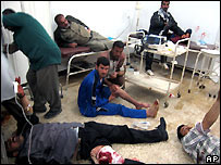 Wounded after bombing in Kirkuk hospital - file photo