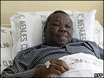 Opposition leader Morgan Tsvangirai in hospital