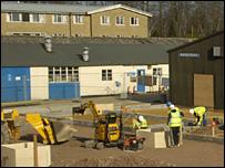 worksite at Wymondham College
