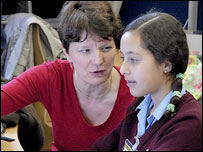 Director of BBC News Helen Boaden at Sion Manning School, London