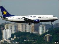 Imagen de un avión de la aerolínea brasileña, Varig
