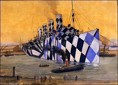The HM Mauretania enters port at Liverpool (image: Imperial war Museum)
