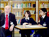Labour MP Steve Pound met students at Drayton Manor High School