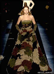 Jean-Paul Gaultier camouflage dress