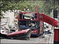 Bus bombed on 7 July 2005