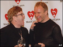 Sir Elton John and Sting