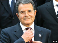 Italian Prime Minister Romano Prodi