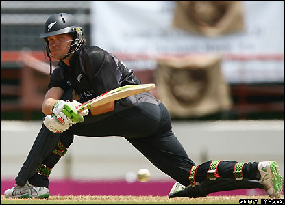 New Zealand cricketer Lou Vincent bats against Canada at the World Cup