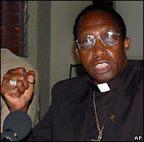 Archbishop Pius Ncube in Harare 22/3/2007