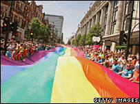 Euro pride march in London in 2006