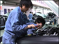 Workers at Nanjing Automotive