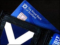 A Royal Bank of Scotland card