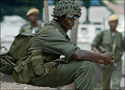 A Congolese soldier