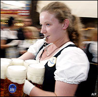 Munich waitress at Oktoberfest