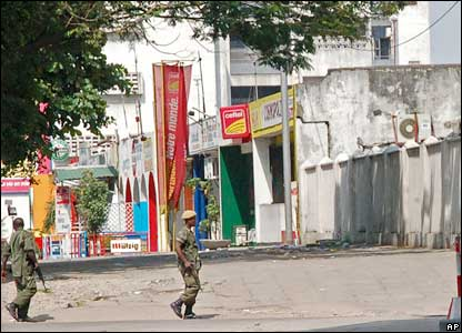 Congolese government troops in Kinshasa