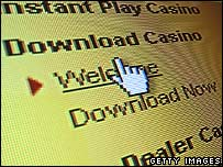 Online casino page