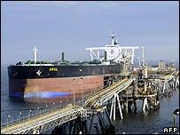 Oil tanker leaving Basra in Iraq