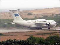 An Ilyushin-76 plane Somalia. File photo