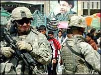 جنود امريكيون في بغداد