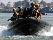 دورية بريطانية في شط العرب