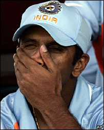 Rahul Dravid after the defeat