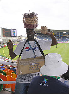 "Mary Reid: ""I took this photo of one of the peanut sellers who entertained the crowd at Ireland's match with Zimbabwe at Sabina Park"""