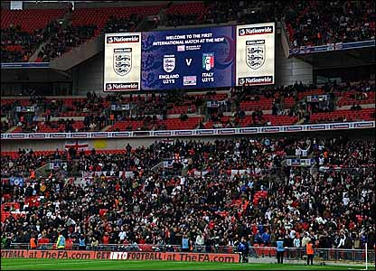 The scoreboard at Wembley