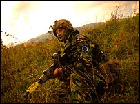 Welsh Guards practice in Bosnia